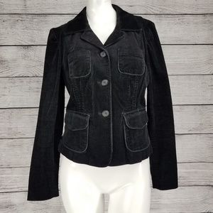 INC S Black Corduroy Blazer Jacket Button front
